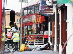 Nine people were treated for minor injuries following the incident in Lavender Hill (Lauren Hurley/PA)
