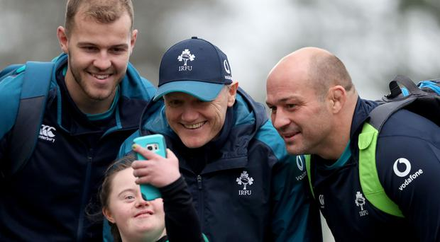Will Addison (left) was omitted from Ireland's World Cup panel by Joe Schmidt (centre), who has again praised his captain Rory Best (right).
