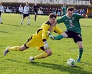 Action from Northern Ireland's Centenary Shield tie against England