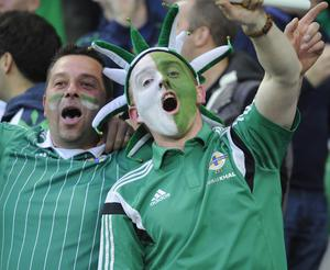 Northern Ireland fans  during this evenings game at Windsor park. Photo Colm Lenaghan/Pacemaker Press
