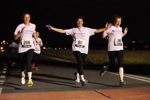 Press Eye - Belfast -  Northern Ireland - 24th June 2015 - Athletes take part in the first ever Grant Thornton Runway Run at Belfast City Airport this evening. Picture by Kelvin Boyes / Press Eye.