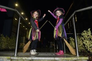 Amber and Lucy Millar from Ballyclare pictured at the Halloween spook out at Newtownabbey's Mossley Mill. Picture by Stephen Hamilton -Presseye.com