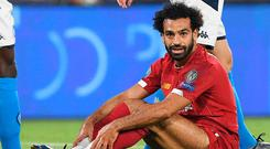 Double trouble: Mo Salah grounded by Liverpool's 2-0 defeat at Napoli