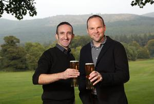 Tom Ray with Connaire McGreevy, founder of Mourne Mountains Brewery
