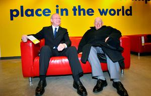 File photo dated 31/12/07 of Northern Ireland First Minister Ian Paisley (right) and Deputy First Minister Martin McGuinness at the opening of Ireland's first IKEA store in Belfast.  Paul Faith/PA Wire