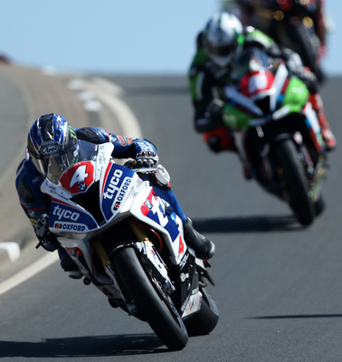 Leading contender: Ian Hutchinson wins the Superstock race at the NW200 last year