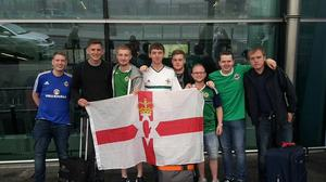 David Johnston and fellow Northern Ireland fans head off to France.