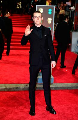 Will Poulter attending the EE British Academy Film Awards held at the Royal Albert Hall, Kensington Gore, Kensington, London.  PRESS ASSOCIATION Photo. Picture date: Sunday February 18, 2018. See PA Story SHOWBIZ Bafta. Photo credit should read: Ian West/PA Wire.