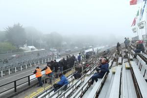 01/06/2019: Isle of Man TT Grandstand as yet another qualifying session has been cancelled due to bad weather. PICTURE BY DAVE KNEEN/PACEMAKER PRESS.