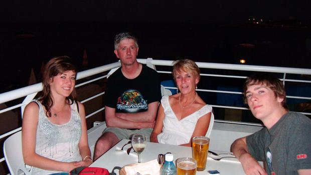 Anne McCloskey with her family