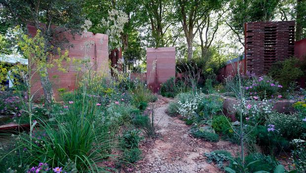 The M&G garden at the RHS Chelsea Flower Show at the Royal Hospital Chelsea, London. PRESS ASSOCIATION Photo. Issue date: Tuesday May 22, 2018. Photo credit should read: Jonathan Brady/PA Wire