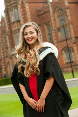 Chloe Mallon from Newry graduating with English from Queens today.