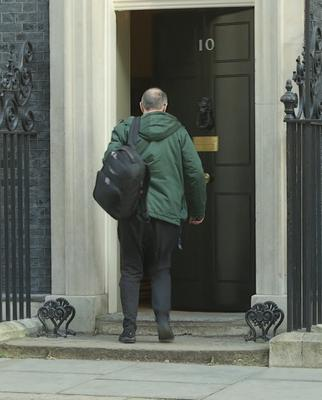 Dominic Cummings arrives in Downing Street (PA)