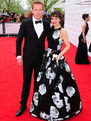 Damian Lewis and wife Helen McCrory  arriving for the 2013 Arqiva British Academy Television Awards at the Royal Festival Hall, London. PRESS ASSOCIATION Photo. Picture date: Sunday May 12, 2013. See PA story SHOWBIZ Bafta. Photo credit should read: Ian West/PA Wire