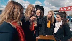 Natalie Hughes, Alana Spencer, Aleksandra King, Rebecca Jeffery and Frances Bishop, candidates in this year's BBC1 programme, The Apprentice. PA