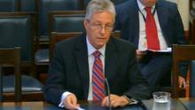 Video grab taken from the Northern Ireland Assembly of Democratic Unionist Party (DUP) leader Peter Robinson appearing before a parliamentary committee in Stormont, Belfast, which is investigating the ?1bn sale of the Nama Northern Ireland property portfolio. PRESS ASSOCIATION Photo. Picture date: Wednesday October 14, 2015. See PA story POLITICS Nama Ireland. Photo credit should read: PA Wire