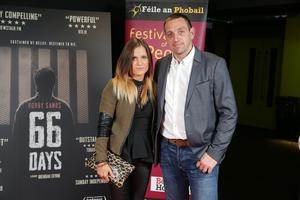 Press Eye Belfast - Northern Ireland - 31st July 2016    Pauline and Padraig Omuirigh are pictured at the film premiere of Bobby Sands: 66 Days at the Omniplex Cinema at the Kennedy Centre in west Belfast.  The premiere was hosted with Féile An Phobail and West Belfast Film Festival.  Photo by Kelvin Boyes  / Press Eye
