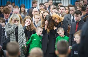 The funeral of Paul McCready takes place in North Belfast following his murder in Belfast last weekend on April 7th 2017 (Photo - Kevin Scott / Belfast Telegraph)