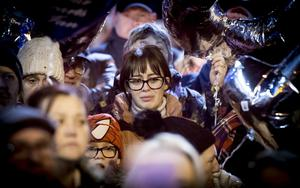 Toni Johnston Ogle as A vigil is held Cluan Place where Ian Ogle was murdered on January 30th 2019 (Photo by Kevin Scott for Belfast Telegraph)