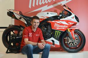 PACEMAKER, BELFAST, 2/12/2012: William Dunlop  is all smiles at the Motorcycle Live Show at the NEC this weekend as he sits beside the R1 Yamaha superbike that he will race in 2013 as part of the Milwaukee Yamaha squad. PICTURE BY STEPHEN DAVISON