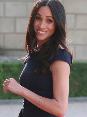 BERKSHIRE, ENGLAND - MAY 18:  Meghan Markle arrives at Cliveden House Hotel on the National Trust's Cliveden Estate to spend the night before her wedding to Prince Harry on May 18, 2018 in Berkshire, England.  (Photo by Steve Parsons - Pool / Getty Images)