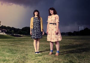 Drum beat: Katharine Eira Brown and Theresa Wrigley of Rattle