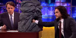 Kit Harington takes a lie detector test on the Jonathan Ross show. Pic: ITV