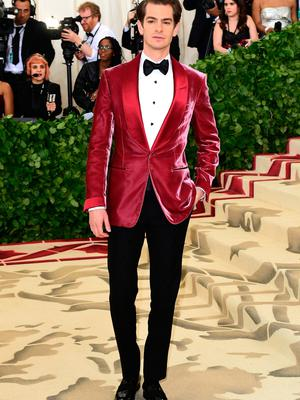 Andrew Garfield attending the Metropolitan Museum of Art Costume Institute Benefit Gala 2018 in New York, USA. PRESS ASSOCIATION Photo. Picture date: Monday May 7, 2018. See PA story SHOWBIZ MET Gala. Photo credit should read: Ian West/PA Wire