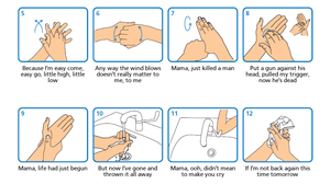The tool allows users to add their own choice of songs to the recommended handwashing procedure (Wash Your Lyrics/NHS/WHO)