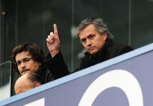 FILE - JUNE 02, 2013:  Jose Mourinho has been confirmed as Chelsea FC manager, returning to the club for a second term in charge, having left the club in 2007. LONDON, ENGLAND - DECEMBER 28:  Ex-Chelsea manager Jose Mourinho, now coach of Inter Milan gestures from the stand prior to the Barclays Premier League match between Chelsea and Fulham at Stamford Bridge on December 28, 2009 in London, England.  (Photo by Clive Mason/Getty Images)