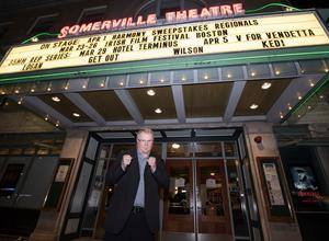 Sean Mannion outside the Somerville Theatre at the Boston Film Festival earlier this year.