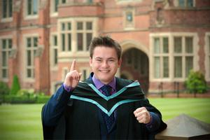 No 1 Student: Graduation at Queens this week marks the end to a special year for Leonard Maguire from Dungannon. The Queen's dental graduate was ranked the number one student in the UK in the National Dental Foundation Training assessment procedure, after beating off competition from more than 1200 final year dental students from across the UK's 16 Dental Schools and from Dental Schools in Europe.