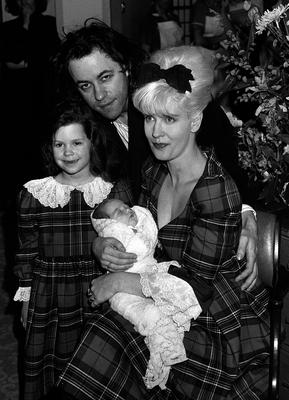 Bob Geldof and Paula Yates, with their daughter Fifi Trixiebelle and baby girl Peaches