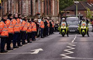 The funeral of Noah Donohoe takes place in Belfast on July 1st 2020 (Photo by Kevin Scott for Belfast Telegraph)