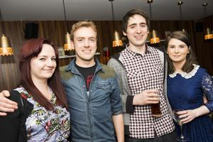 The Poet rebranding launch night pictured Sara Boyle, James Stewart,   Richard mackey and Aisling Kerr