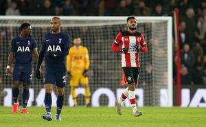 Boufal, right, earned a replay for Southampton (Steven Paston/PA)