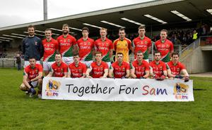 """4th May 2013 """"Together For Sam"""" Fundraising G.A.A. Match between Fermanagh and Mayo at Brewster Park, Enniskillen The Mayos Team at Saturday Nights Game."""