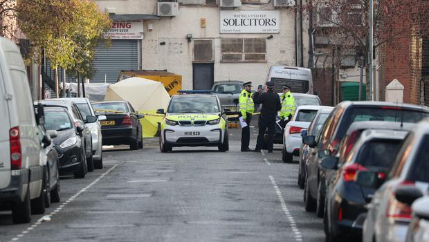Police activity at the scene (Jonathan Brady/PA)