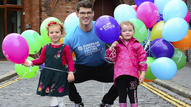 PACEMAKER BELFAST  Monday 22 September 2017: Belfast ninth Culture Night is a family friendly event with a range of activities that people of all ages can enjoy in the  Cathedral Quarter and city centre. Evelyn West,Cara O'Neill from Newtownabbey and Phillip Doyle pictured  during Belfast Culture Night. Picture By: Arthur Allison/Pacemaker Press