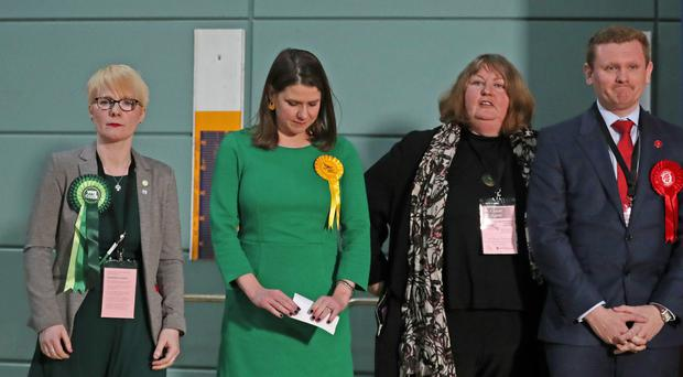 Jo Swinson hinted that a woman should succeed her (Jane Barlow/PA)