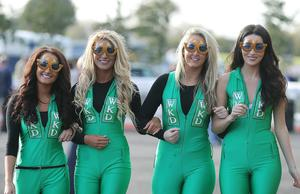 Northern Ireland Festival of Racing at Down Royal Racecourse - Day 1  WKD promotional girls at the Racecourse  Picture by Kelvin Boyes / Press Eye.