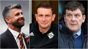 The candidates for the Northern Ireland job: Stephen Robinson, Ian Baraclough and Tommy Wright.