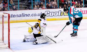 Ice cool: Darcy Murphy sticks it to the Panthers