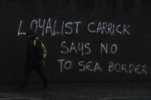 Loyalists are angry at the introduction of new Irish Sea trading arrangements (Brian Lawless/PA)