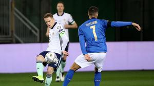 Steven Davis showed his influential touch during an impressive second half for Northern Ireland in Parma.