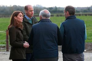 The Duke and Duchess of Cambridge during a visit to the Teagasc Animal & Grassland Research Centre at Grange, in County Meath, as part of their three day visit to the Republic of Ireland. PA Photo. Picture date: Wednesday March 4, 2020. See PA story ROYAL Cambridge. Photo credit should read: Aaron Chown/PA Wire