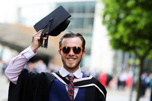 Graduating from Ulster University today with a BA in cvil engineering Shane Flaherty. Picture John Murphy Aurora Photographic Agency.