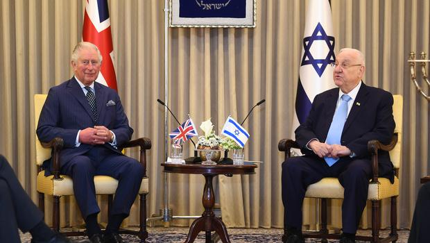 The Prince of Wales meets Israeli President Reuven Rivlin at his official residence in Jerusalem (Victoria Jones/PA)