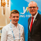 Jude Perry with Tanaiste Simon Coveney