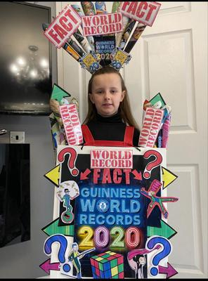 Summer, age 7, Belfast  as the Guinness World Book of  Records 2020